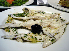 Boquerones in vinegar