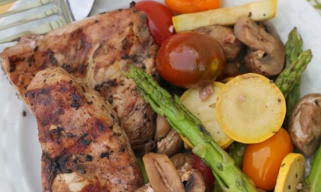 Healthy Recipe, Chicken With Vegetables And Red Wine